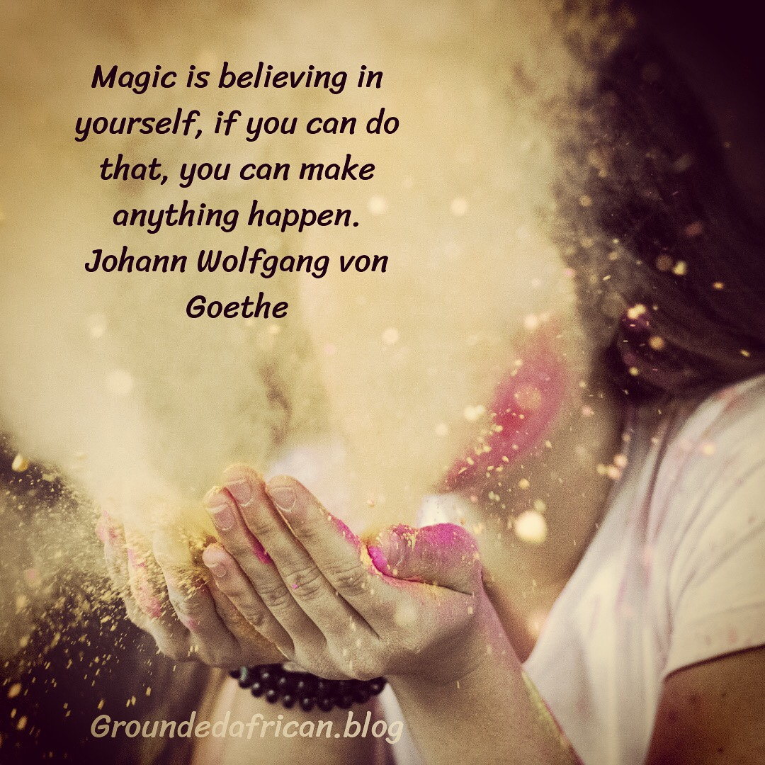 Women blowing magical dust