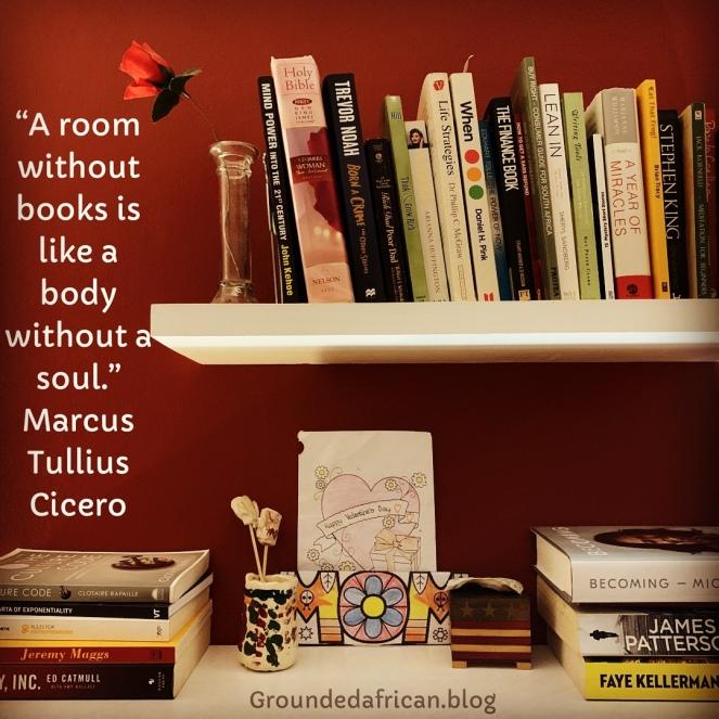 Bookshelves. Quote by Marcus Tullius Cicero