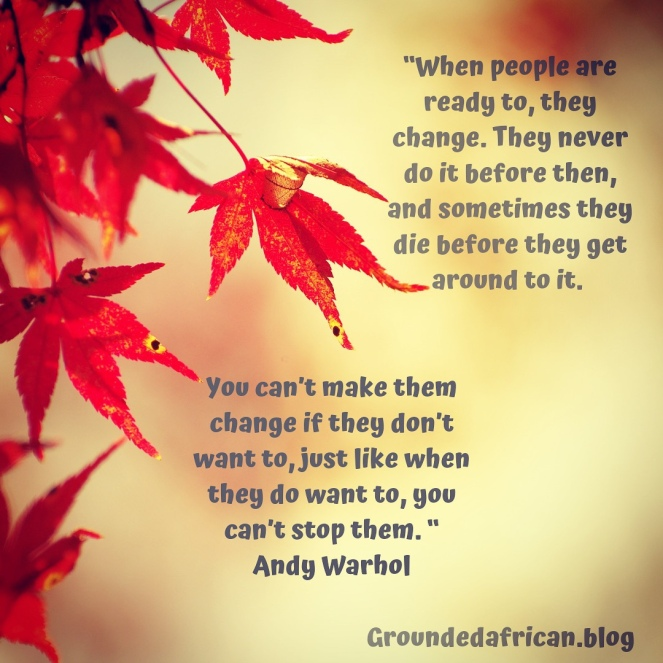 Autumn leaves. Quote by Andy Warhol