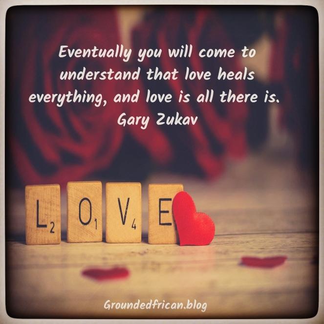 Love in blocks. Quote by Gary Zukav.