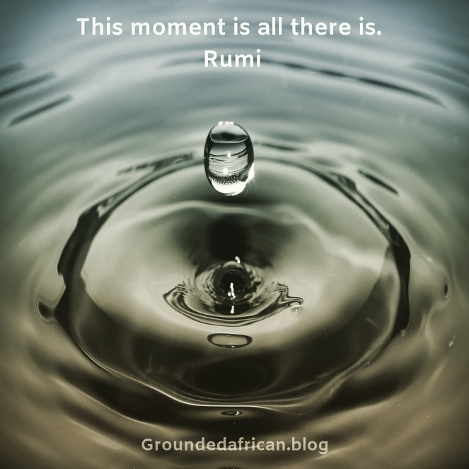 Water droplet creating ripples. Quote by Rumi