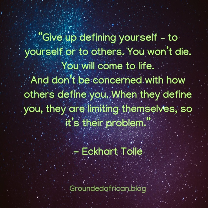 Star lit sky. Quote by Eckhart Tolle