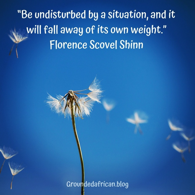Dandelion. Quote by Florence Scovel Shinn