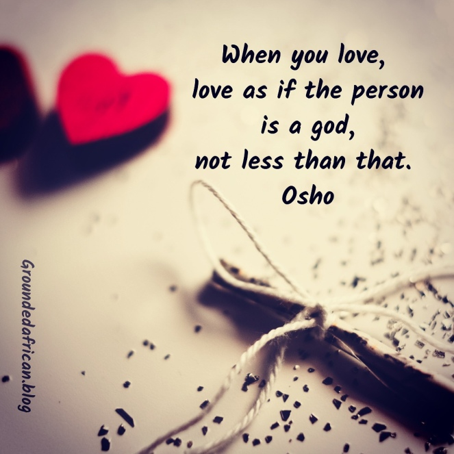 Hearts on a piece of paper. Quote by Osho