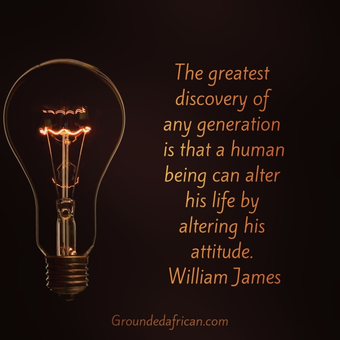 Lightbulb. Quote by William James