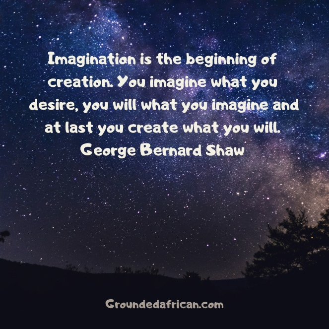 Star filled sky. Imagination quote by George Bernard Shaw