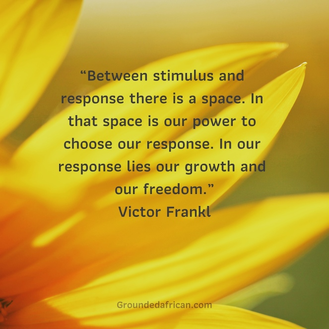 Sunflower. Quote by Viktor Frankl