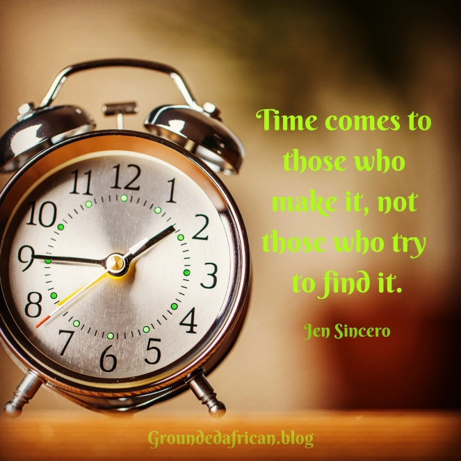 Old alarm clock. Quote by Jen Sincero re: creating time