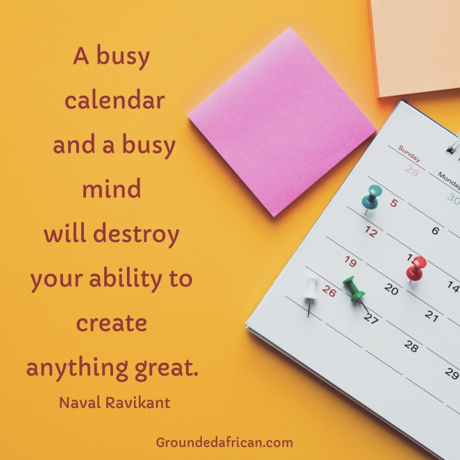Calendar and post it notes. Quote by Naval Ravikant