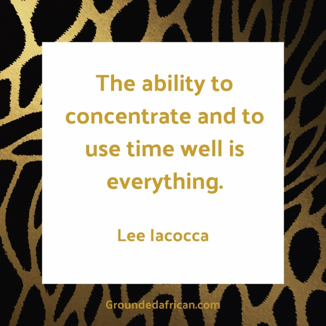 Lee Iacocca quote in white square over tiger stripes